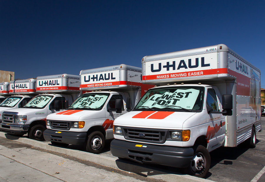 U-Haul trucks advertise low cost truck rentals for local and long distance moving