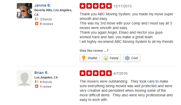 ABC Moving Systems – moving company more customer reviews