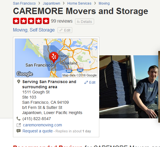 CAREMORE Movers and Storage – Location