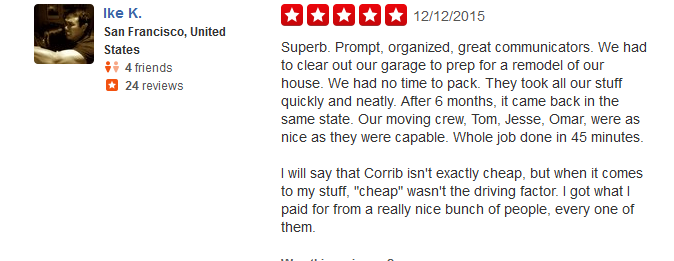 Corrib Moving and Storage – moving company review