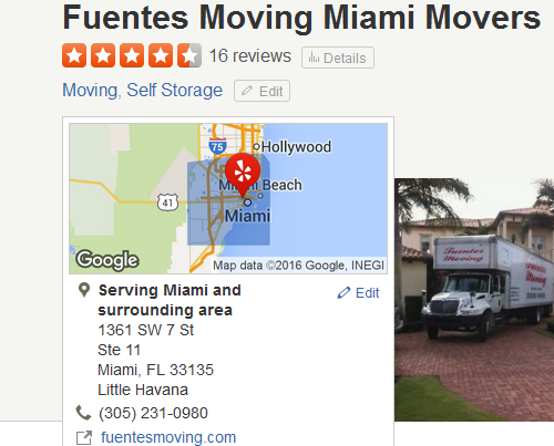 Fuentes Moving Miami Movers – Movers' location
