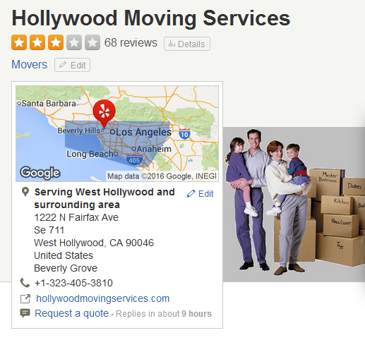 Hollywood Moving Services – Moving company Location