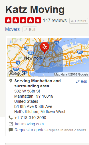 Katz Moving - Location