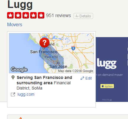 Lugg – Moving company location