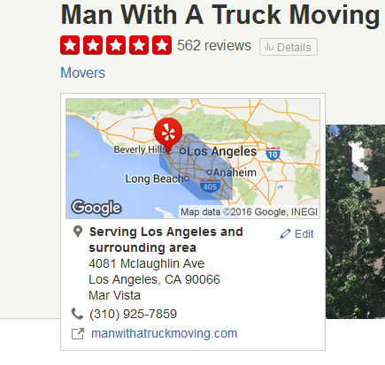 Man with a Truck Moving – Movers' Location
