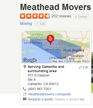 Meathead Movers – Movers' Location