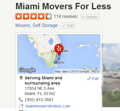 Miami Movers for Less – Movers' location