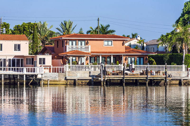 Miami Homes in the Famous Canal