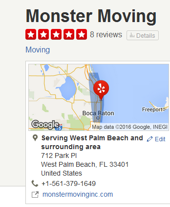 Monster Moving – Movers' location