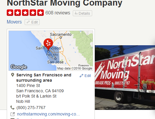 Northstar Moving – Location