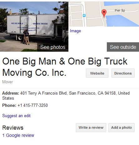 One Big Man, One Big Truck - Location