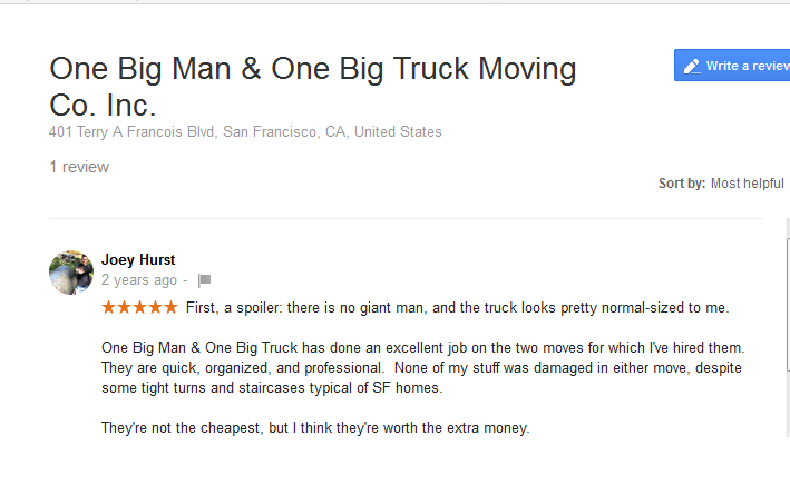 One Big Man, One Big Truck – Moving review