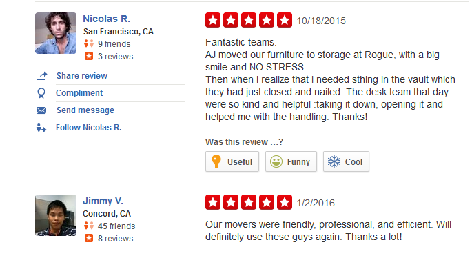 Rogue Moving and Storage – Moving reviews