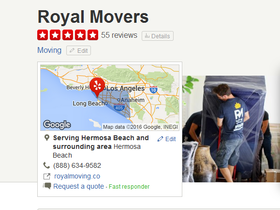 Royal Movers – Movers' Location
