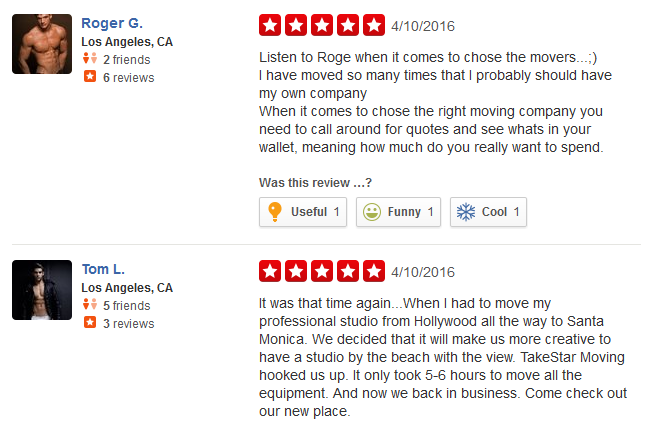 Take Star Moving – moving company customer reviews