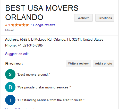 Best USA Movers – Movers' Location