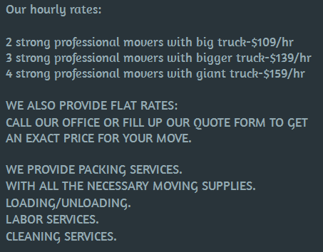 Best USA Movers – Moving rates