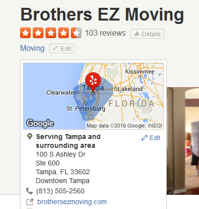 Brothers EZ Moving – Movers' location
