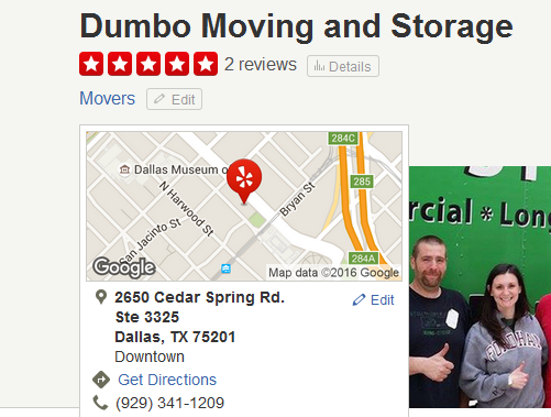 Dumbo Moving and Storage – Movers' location