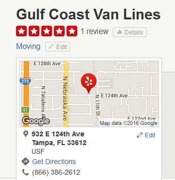 Gulf Coast Van Lines – Movers' location