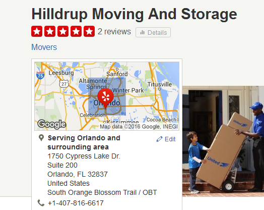 Hilldrup Moving and Storage – Movers' location