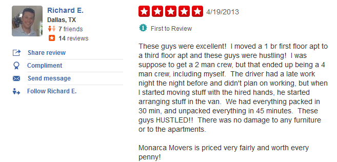 Monarca Movers – Moving review
