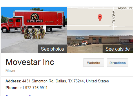 Movestar Inc – Movers' location