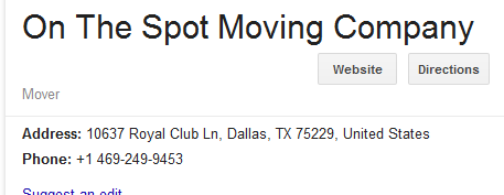 On the Spot – Movers' location