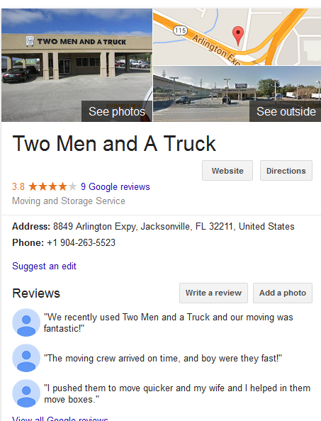 Two Men and a Truck – Movers' location