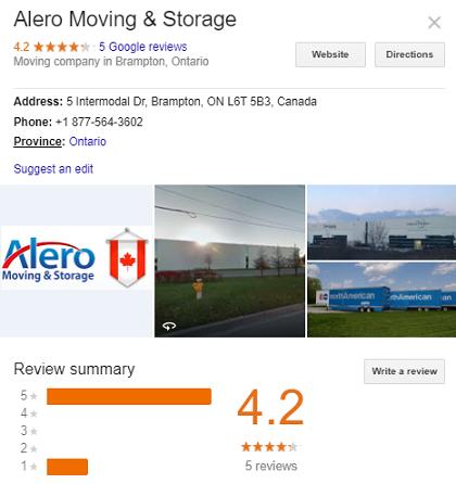 Alero Moving and Storage