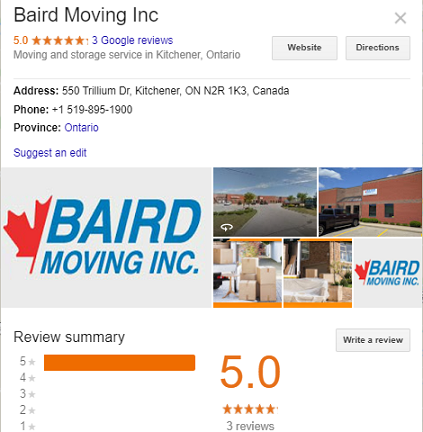 Baird Moving