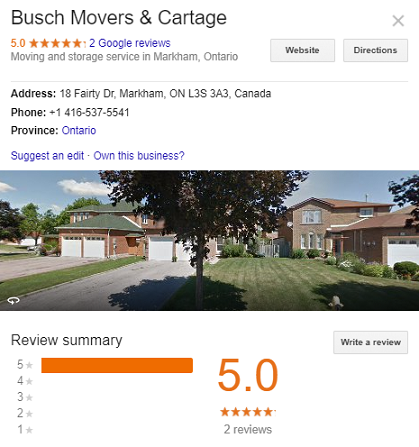 Busch Movers and Cartage