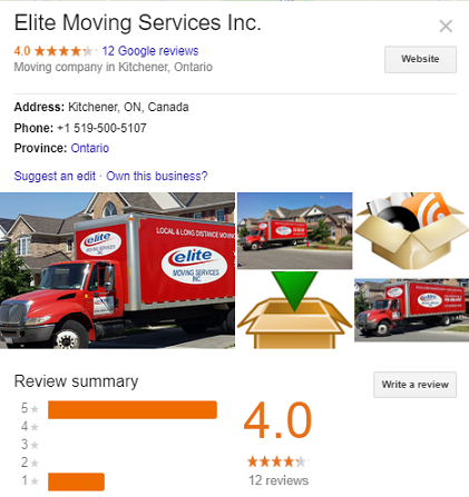 Kitchener Movers Reviews