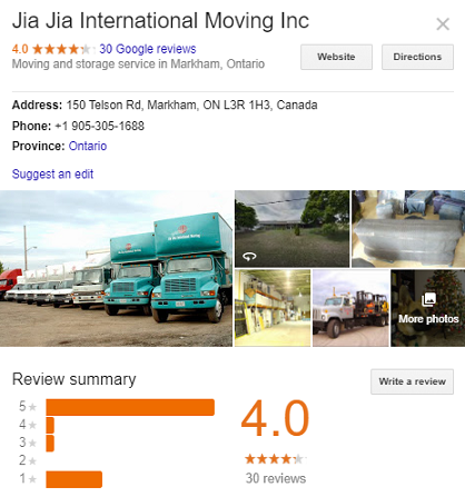 Jia Jia International Moving