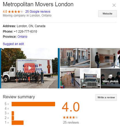 Metropolitan Movers London