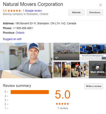 Natural Movers Corporation
