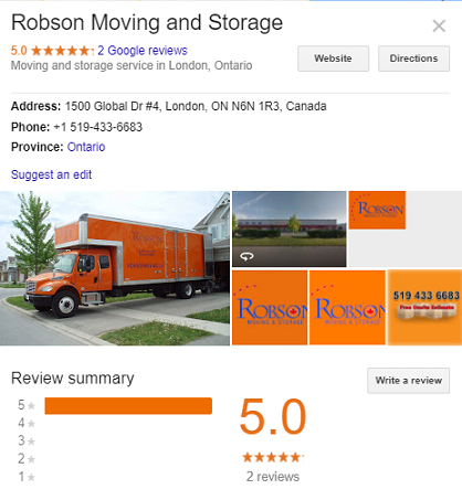 Robson Moving and Storage