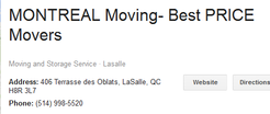 Best Movers Montreal - Location