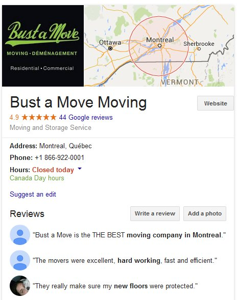 Bust a Move Moving – Location and moving reviews