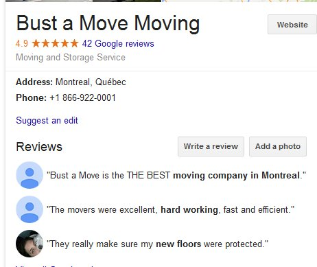 Bust a Move – Location and reviews