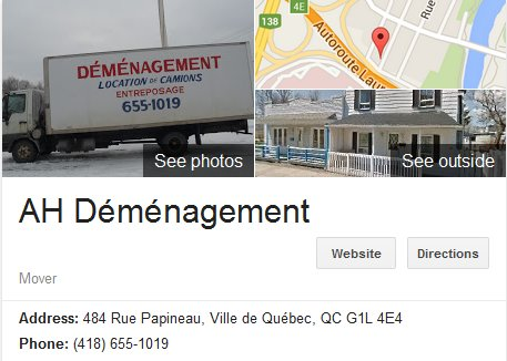 AH Demenagement – Location