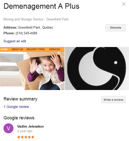 Demenagement A Plus – Location and moving review