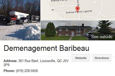 Baribeau Moving – Location