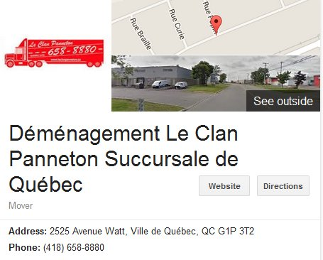 Demenagement Le Clan Panneton – Location