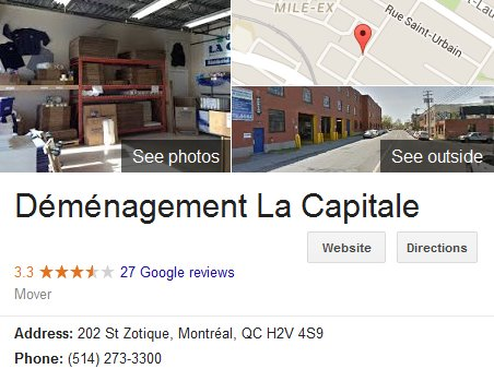Demenagement La Capitale - Location