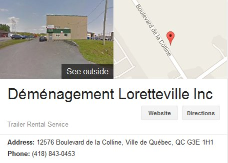 Demenagement Loretteville – Location