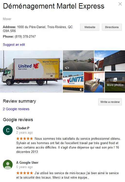Martel Express – Location and moving review
