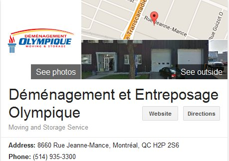 Demenagement Olympique – Location and moving reviews