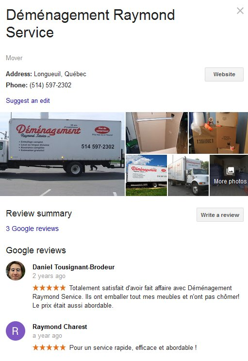 Demenagement Raymond Service – Location and moving reviews
