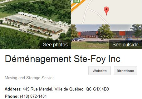 Demenagement Ste-Foy - Location